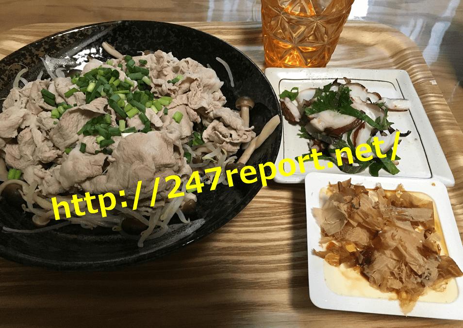 24/7ワークアウト夕飯食事メニュー