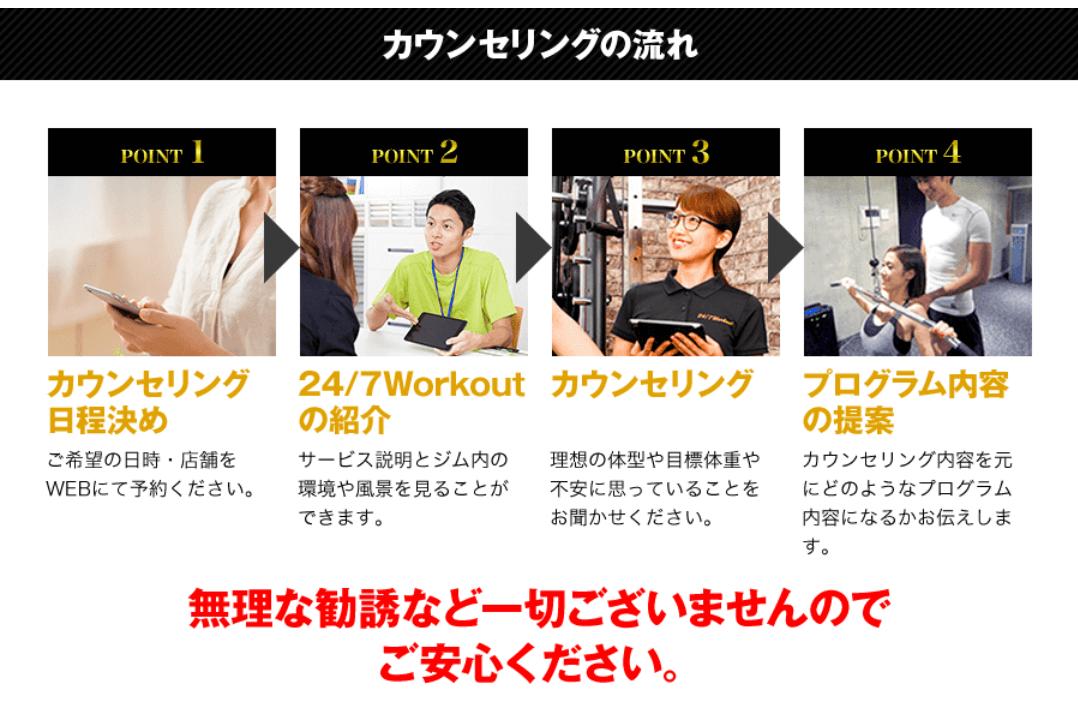 24/7ワークアウト八王子店カウンセリング